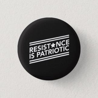 Bóton Redondo 2.54cm A resistência é botão patriótico