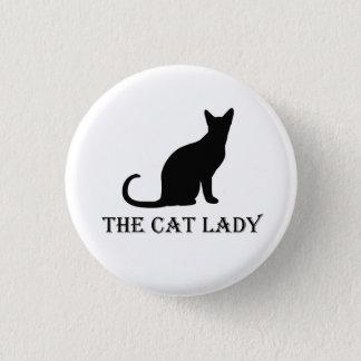 Bóton Redondo 2.54cm A senhora Pinback Crachá Botão do gato
