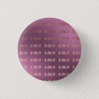 Bóton Redondo 2.54cm a tipografia cor-de-rosa do ouro do falso abraça e