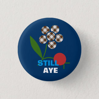 Bóton Redondo 2.54cm Ainda Aye crachá escocês da independência da flor