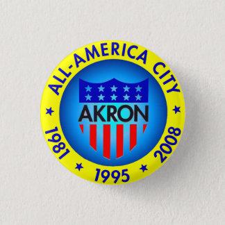 Bóton Redondo 2.54cm Akron todo o botão americano da cidade