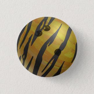 Bóton Redondo 2.54cm Amarelo do tigre da bola de boliche
