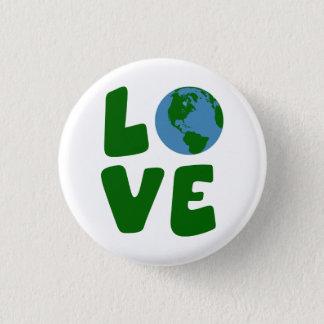 Bóton Redondo 2.54cm Ame o planeta da Mãe Terra