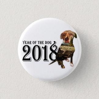 Bóton Redondo 2.54cm Ano da exposição dobro do cão 2018