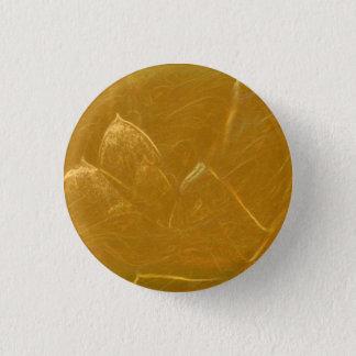 Bóton Redondo 2.54cm Arte gráfica das pétalas douradas da flor de LOTUS
