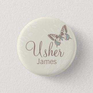 Bóton Redondo 2.54cm As borboletas Usher nomearam o pino/botão de creme