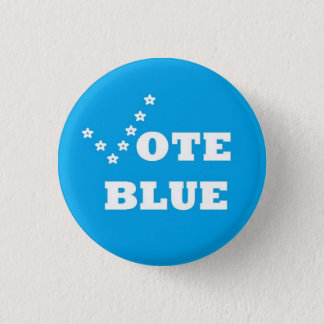 Bóton Redondo 2.54cm Azul do voto - Pin