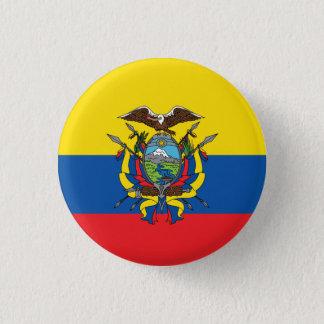 Bóton Redondo 2.54cm Bandeira abstrata de Equador, república do botão