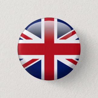 Bóton Redondo 2.54cm Bandeira britânica de Union Jack