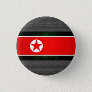 Bóton Redondo 2.54cm Bandeira norte-coreana nervosa moderna