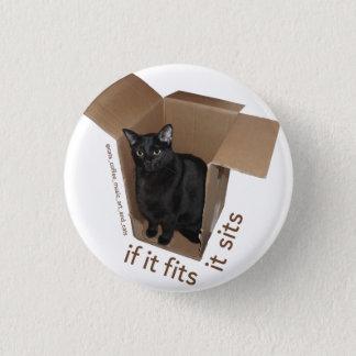 Bóton Redondo 2.54cm Batcat: Cabe-o senta o botão