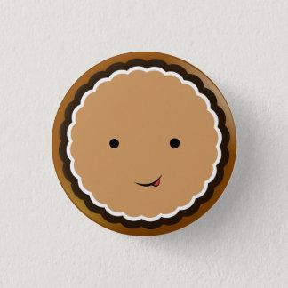 Bóton Redondo 2.54cm biscoito Aberto-enfrentado do creme do chocolate