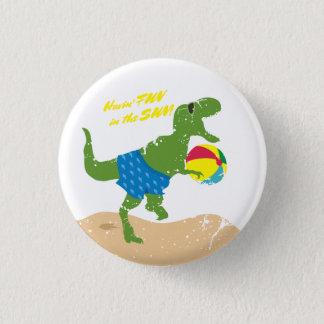 Bóton Redondo 2.54cm Bola de praia engraçada do verão do dinossauro do