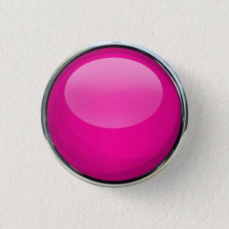 Bóton Redondo 2.54cm Bola de vidro cor-de-rosa