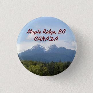 Bóton Redondo 2.54cm Bordo Ridge, BC, botão da lembrança de CANADÁ