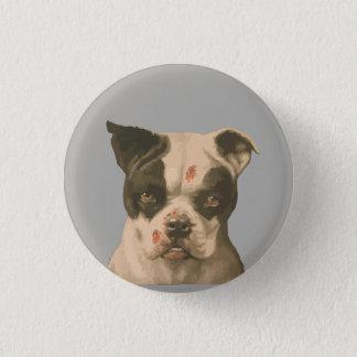 Bóton Redondo 2.54cm botão 1895 mau do cão de Boston Terrier do vintage
