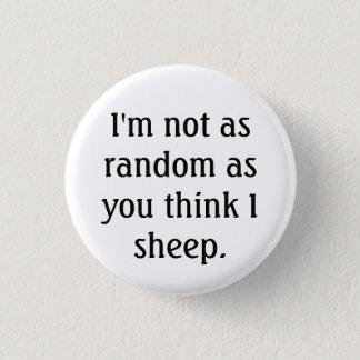 Bóton Redondo 2.54cm botão aleatório dos carneiros