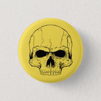Bóton Redondo 2.54cm Botão amarelo do crânio