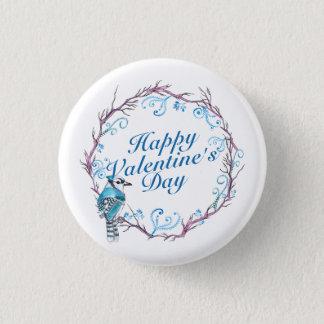 Bóton Redondo 2.54cm Botão azul do Pin da grinalda do dia dos namorados