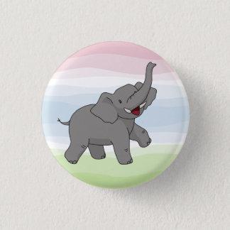 Bóton Redondo 2.54cm Botão cinzento feliz do elefante