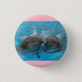 Bóton Redondo 2.54cm Botão cor-de-rosa do golfinho