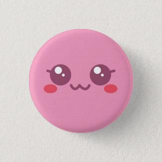 Bóton Redondo 2.54cm Botão cor-de-rosa Vers 2 da cara do sopro