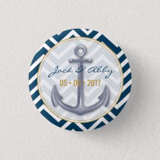 Bóton Redondo 2.54cm Botão da âncora do aniversário