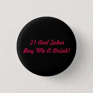 Bóton Redondo 2.54cm Botão da bebida do preto e do rosa 21