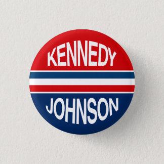 Bóton Redondo 2.54cm Botão da campanha de Kennedy Johnson 1960