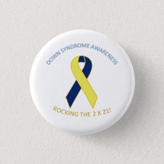Bóton Redondo 2.54cm Botão da consciência de Síndrome de Down