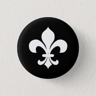 Bóton Redondo 2.54cm Botão da heráldica Fleur-di-Lis