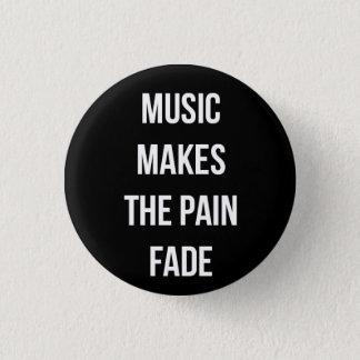 Bóton Redondo 2.54cm Botão da música