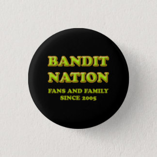 Bóton Redondo 2.54cm Botão da nação do bandido, preto