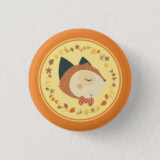 Bóton Redondo 2.54cm Botão da raposa de Autunm