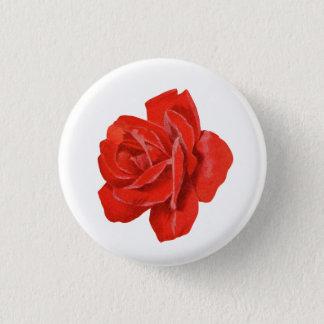 Bóton Redondo 2.54cm Botão da rosa vermelha do vintage