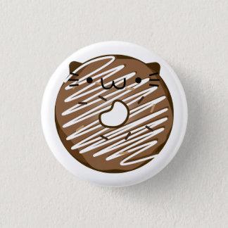 Bóton Redondo 2.54cm Botão da rosquinha do gato do chocolate