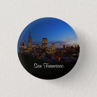 Bóton Redondo 2.54cm Botão da skyline #4 Pinback de San Francisco