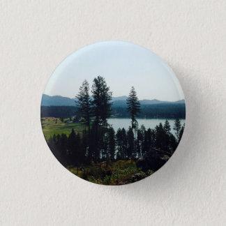 Bóton Redondo 2.54cm Botão da vista geral do lago