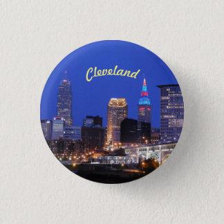 Bóton Redondo 2.54cm Botão de Cleveland OH da skyline do rio