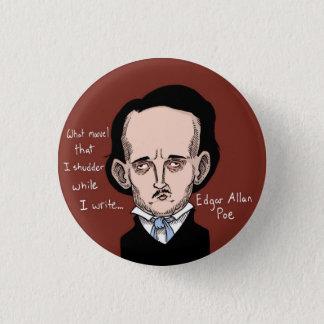 Bóton Redondo 2.54cm Botão de Edgar Allan Poe