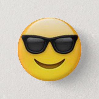 Bóton Redondo 2.54cm Botão de Emoji dos óculos de sol