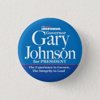 Bóton Redondo 2.54cm Botão de Gary Johnson