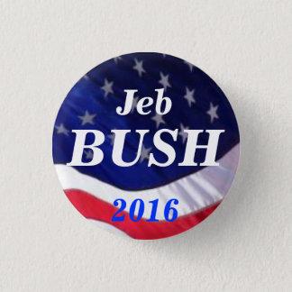 Bóton Redondo 2.54cm Botão de Jeb Bush 2016