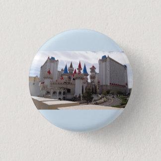 Bóton Redondo 2.54cm Botão de Pinback do hotel & do casino de Excalibur
