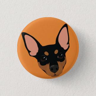 Bóton Redondo 2.54cm Botão de Pinback do retrato do cão do Pinscher