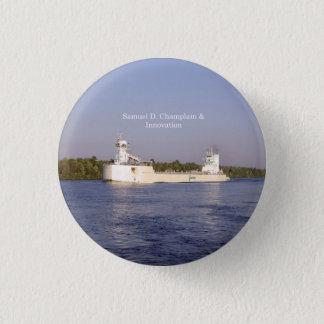 Bóton Redondo 2.54cm Botão de Samuel D. Champlain & de inovação