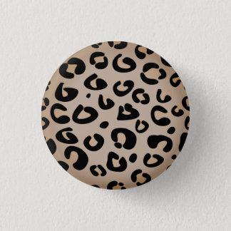 Bóton Redondo 2.54cm Botão desenhado mão das senhoras do jaguar