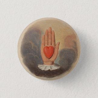 Bóton Redondo 2.54cm Botão disponivel do coração dos companheiros