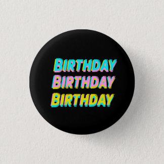 Bóton Redondo 2.54cm Botão do aniversário