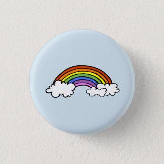 Bóton Redondo 2.54cm Botão do arco-íris
